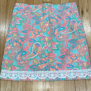 lilly pulitzer skirt with embroidered hem 4